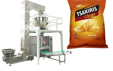 Automatic potato chips snack food packing machine
